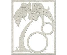 Fabscraps Die-Cut-Set di decorazioni per albero di Natale, colore: grigio con palmo e Circlesup a 3 cm x 9,5 cm