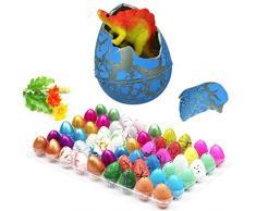 Uova di Dinosauro dinosauro éclosion uovo magico Crepe colorate, Giocattoli di Pasqua per i bambini dimensione Pack di 5 PCS