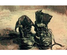 1art1 Vincent Van Gogh - Natura Morta, Paio di Scarpe 1886 Poster Stampa Geante XXL (120 x 80cm)
