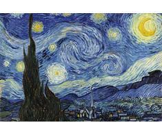 1art1 Vincent Van Gogh - Notte Stellata, 1889 Poster Stampa Geante XXL (120 x 80cm)