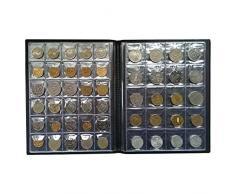 002b99da83 VORCOOL Raccoglitore Album monete collezione di monete 250 tasche (Nero)