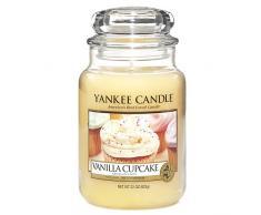 Yankee candle 1093707E Vanilla Cupcake Candele in giara grande, Vetro, Giallo, 9.9x9.8x15.4 cm