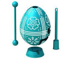 Uovo di Pasqua Turchese: puzzle labirinto da usare come giocattolo a sorpresa per bambini per la caccia all'uovo e decorazione, in confezione regalo, pronto per essere dato come regalo di Pasqua