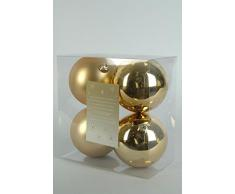 Decoris, 22165, Palline Natalizie, infrangibili, Miste Lucide e opache, Oro (Gold)