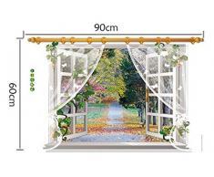 Wall sticker adesivo finestra Autumn Scenery decorazione adesiva parete casa