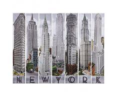 Kare Design - Set di 7 quadri, motivo: architettura di New York