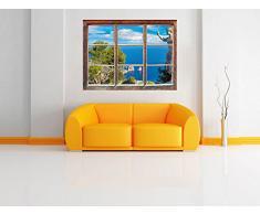 Isola di Capri in Italia Fenêtre en 3D look, mur ou format vignette de la porte: 62x42cm, stickers muraux, sticker mural, décoration murale