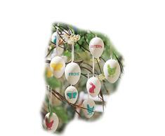 16 X Uova di Pasqua uova pasquali in plastica multicolore Pasqua Decorazione