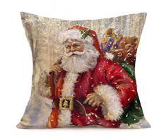 Federa di Natale, Scpink Babbo Natale in possesso di Cervo e portando la Cassa del Cuscino di casa in casa di Lino di Albero di Natale (G)