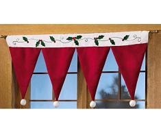 Harpily Tenda di Natale Pannello di Copertura per Finestra e Porta Tenda di Cappello di Natale Natale per Creare Un Atmosfera Natalizia Casa Natale Decorativa