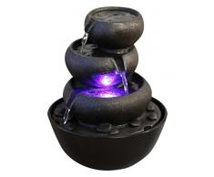 Zen'Light Jarre - Fontana in poliresina, 18 x 18 x 22 cm, colore: Nero