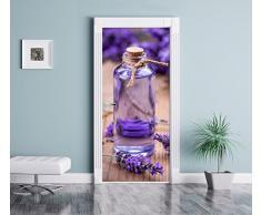 fiori di lavanda fresca come Murale, Formato: 200x90cm, telaio della porta, adesivi porta, porta decorazione, autoadesivi del portello
