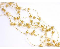 Ghirlanda perline d'oro giallo 5 pezzi 1, 3m addobbi matrimonio battesimo natale
