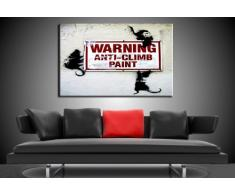 "'Graffiti ""Banksy"" stampa su Leinwand - Quadro 100 x 70 cm K. Poster. Tela già su telaio. Pop Art dipinto stampe artistiche da parete, immagini, immagini per decorazione - decorazione/immagini da parete Top 200 ""Bansky Streetart"
