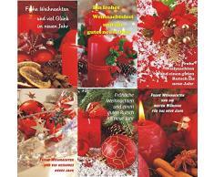 Biglietti di Natale con motivi natalizi, 50 pezzi Biglietti d' auguri Natale 22 - 3140