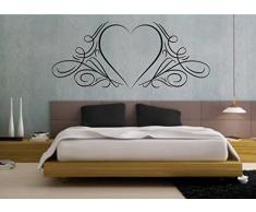 wall stickers Adesivo murale Cuore, amore, love (57cm x 25cm) - adesivi murali decorazioni interni by tshirteria