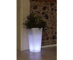 hydroflora 63005500 vaso luminoso a LED Nicoli Eros Light 30 x 30 x 60 cm, ideale per gli ambienti esterni, colore bianco freddo