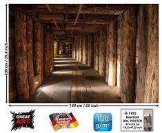 Salzmine Wieliczka / la miniera di sale di Wieliczka FOTOMURALE – XXL quadro -tappezzeria da parete /decorazione da parete 140 cm x 100 cm