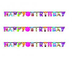 Amscan – 999936 1 m x 11 cm Barbie Sparkle Happy Birthday Lettera Banner