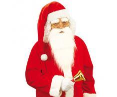 Cappello di Babbo Natale copricapo natalizio berretto bianco e rosso per feste natalizie
