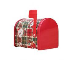 Contenitore di regalo della cassetta postale di Natale,scatola di ferro scatola di latta Cassetta postale Biscotti Candy Contenitore di regalo Contenitori con coperchi per Regali di Natale Decor