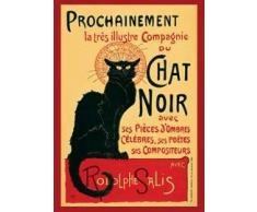 1art1, 1469, Poster Theophile Alexandre Steinlen, motivo: Tournée du Chat Noir, 91 x 61 cm