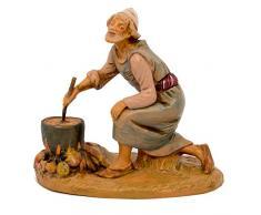 Fontanini Statuine Presepe: Pastore in Ginocchio Che Cucina 12 cm 277
