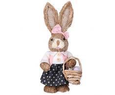 Demiawaking Decorazioni Pasquali Coniglio in Paglia Coniglietto Pasquale Ornamenti Artigianali Coniglio Pasquale Paglia Decorazioni Pasquali per la Casa (Stile 4)