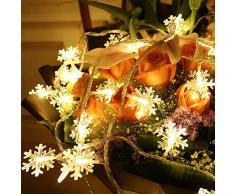 BRone Luci A Corda Luci per Tende, 6M 40LED Luci Stringa Leggiadramente Estensibile per Interni Esterni Festa di Matrimonio Albero di Natale Capodanno Decorazione del Giardino