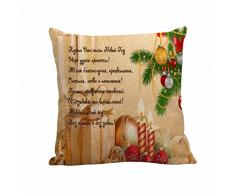 Cuscino di Christmas, Longra Coperture del cuscino del lino di 45cmX45cm di natale (C)