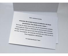 1 Bella cartolina di Pasqua dipinta a mano, con fiori e uova di Pasqua, biglietto di auguri di alta qualità con busta: