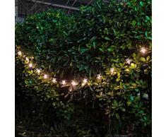 Set di 15 lanterne in stile marocchino, Filo ad alimentazione solare con luci LED colore bianco caldo, motivo pentacolo, per esterni, da giardino Chrismas albero di Natale, feste, matrimoni