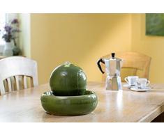 Seliger Fontana in ceramica Rono Fontanella Fontana da tavolo verde 20 cm altezza