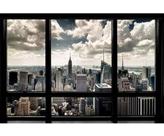 Grupo Erik PP32627 Poster New York Window, carta, Multicolore, 91 x 61,5 x 0,1 cm