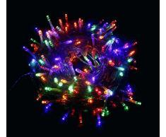 Proxima Direct® - Lucine LED 100/200/300/400/500, addobbi per feste, con 8 diverse modalità di illuminazione, alta qualità