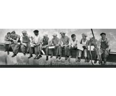 GB Eye LTD, New York, Men on Girder, Poster Porta, 53 x 158 cm