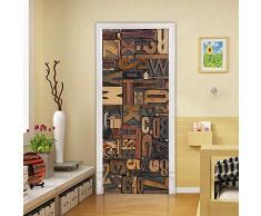 SHAH Poster per Porta 3D Adesivo per Porta Interna Decorazione Soggiorno Cucina Camera da Letto Bagno Wall Sticker Door Poster 90x200cm