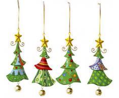 Small Foot Company 5147 Oggetti da Appendere di Metallo, Albero Di Natale