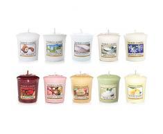 Yankee Candle - Candele votive profumate, colori assortiti (Confezione da 10)