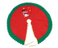 1Pc 95 Centimetri Babbo Natale Rosso Albero Gonna Decorazione Albero Di Natale