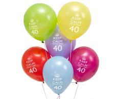 8 Palloncini Keep Calm - 40mo compleanno!