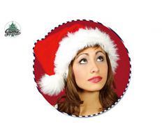 Guirma- Cappello Babbo Natale, Colore Rosso e Bianco, Taglia Unica, capnoellux