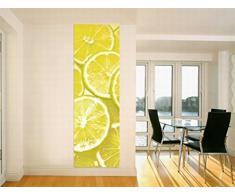 1art1 66.448 di cucina murale poster da parete Stripe - limoni, 250 x 79 centimetri