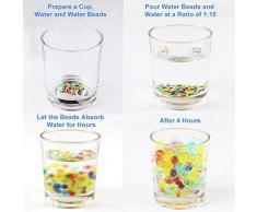 SUPERSUN 55000 pezzi perline in gel acqua per vasi, non tossici perline gel per Terreno per piante, acqua gelatina sfere per riempire il vaso per la casa e la decorazione di nozze