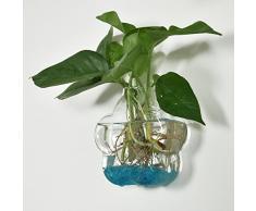 Vaso Vetro Da Parete Forma Di Fiore Decorazioni Fiori Casa Ufficio, Misura 12x12x5cm