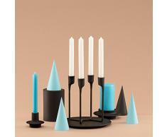 Candelabro per 4 candele, Nero, H: 20,4 x L: 13,8 x D: 13,2 cm