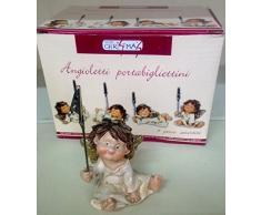 4 pz ANGELO ANGIOLETTO PORTABIGLIETTINO CON MOLLETTA NATALE CM 11