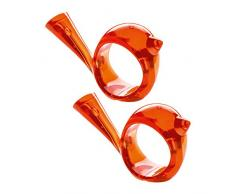 Koziol [pi:p], Anello Portatovagliolo, Set da 2 Pezzi, Tovaglioli, Plastica, Arancione Trasparente, a 5 cm, 3106010