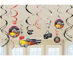 Amscan 50s Classic - Decorazioni a stelle filanti da appendere al soffitto