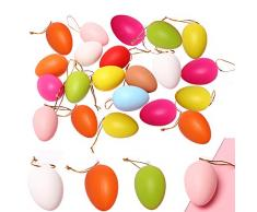SIMUER 48Pcs Uova di Pasqua Colorate in plastica Uova Sorpresa Easter Egg Hunt Party Favors Fillable DIY Easter Toys, Grande Decorazione Pasquale